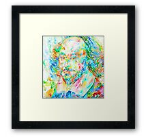 WILLIAM SHAKESPEARE watercolor portrait Framed Print