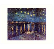 Starry Night over the Rhone, Vincent van Gogh. Art Print