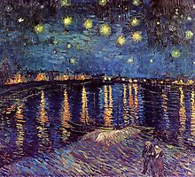 Starry Night over the Rhone, Vincent van Gogh. by naturematters
