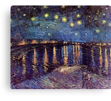Starry Night over the Rhone, Vincent van Gogh. Canvas Print