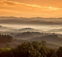 Tuscany Misty Sunrise by nickpowellphoto