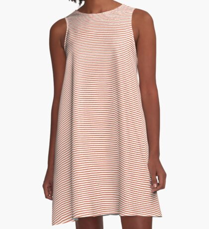 Flame Stripes A-Line Dress