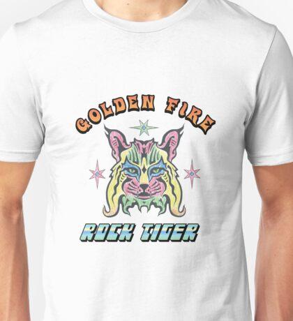 Golden Fire Rock Tiger Unisex T-Shirt