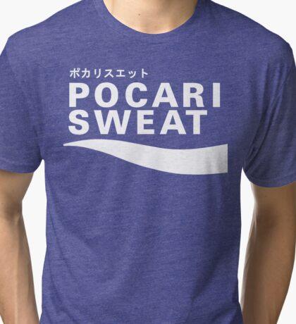 Pocari Sweat Japanese Logo Tri-blend T-Shirt