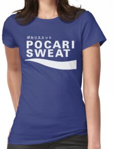Pocari Sweat Japanese Logo Womens Fitted T-Shirt