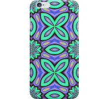 Flora Fantasy Patterns in turquoise, purple, blue and orange iPhone Case/Skin