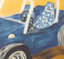 blue dune buggy Sticker