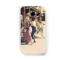 Mother helps her child off trolley in NYC — Colorized Samsung Galaxy Case/Skin