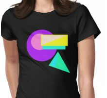 Retro-80s Abstract Womens Fitted T-Shirt