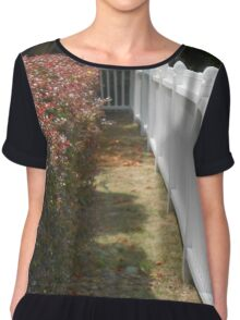 Flowers and Fence Chiffon Top