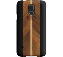 Rocky Point Hawaiian Faux Wood Surfboard - Black Samsung Galaxy Case/Skin