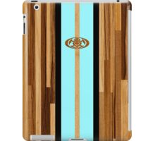 Rocky Point Hawaiian Engineered Faux Wood Surfboard - Aqua iPad Case/Skin