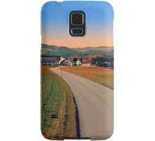Country road into beautiful panorama | landscape photography Samsung Galaxy Case/Skin