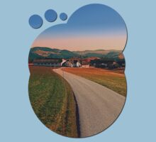 Country road into beautiful panorama | landscape photography Kids Clothes