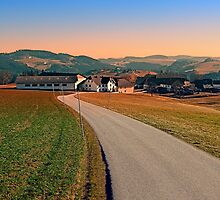 Country road into beautiful panorama | landscape photography by Patrick Jobst