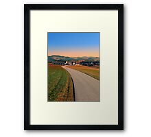 Country road into beautiful panorama | landscape photography Framed Print