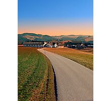 Country road into beautiful panorama | landscape photography Photographic Print