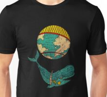 Whale going around the world Unisex T-Shirt