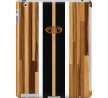 Rocky Point Hawaiian Engineered Faux Wood Surfboard -Black iPad Case/Skin