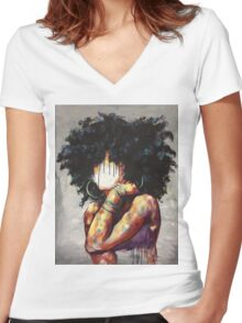 Naturally II Women's Fitted V-Neck T-Shirt