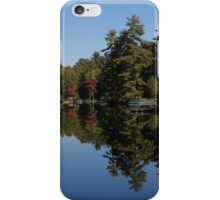 Lakeside Cottage Living - Reflecting on Relaxation iPhone Case/Skin