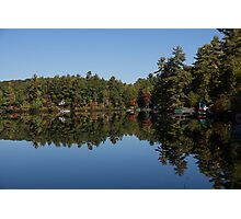 Lakeside Cottage Living - Reflecting on Relaxation Photographic Print
