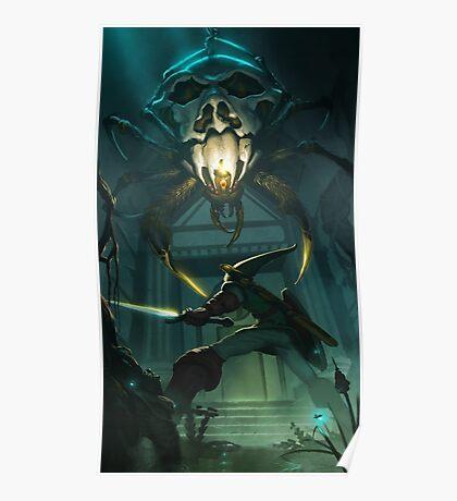 OoT: Skulltula vs Link Poster