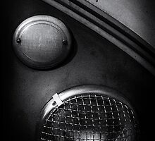 Headlamp detail of VW Type 2 Split Screen camper / bus by davidpreston