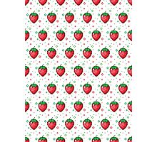 Pixel Fruits - Strawberry Edition Photographic Print
