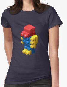 3D Robot Womens Fitted T-Shirt