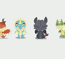 "Tiny Dragons ""How To Train Your Dragon"" by thisisbrooke"