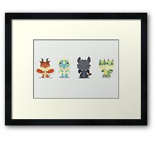 "Tiny Dragons ""How To Train Your Dragon"" Framed Print"