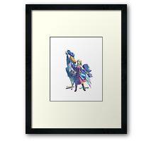 Mosaic Zelda Framed Print