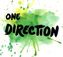 ONE DIRECTION - PAINT SPLATTER - MERCH by charllhere