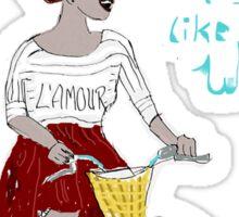 Joyful African Bicyclist Sticker