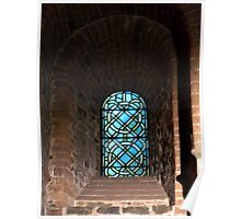 Abstract church window Poster