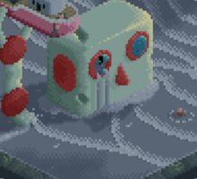 Attack of the Submarine Tin Robot Sticker