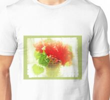 Red Cyclamen on Windowsill Unisex T-Shirt