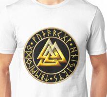 Norse Valknut Runes - Black Unisex T-Shirt