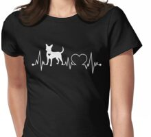 Chihuahua Heartbeat Womens Fitted T-Shirt