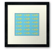 Fish (Blue Yellow) Framed Print