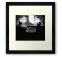 """""""But Death was cunning"""" Deathly Hallows Framed Print"""