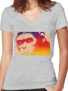 Dawn of the Planet of the Apes  Women's Fitted V-Neck T-Shirt