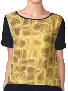 Golden waves Chiffon Top