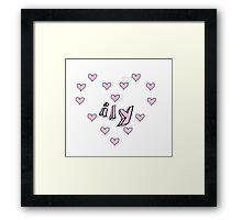 ily graphic Framed Print
