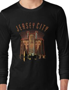 JERSEY CITY and Power House Building Long Sleeve T-Shirt