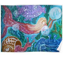 Mermaid and Friends under the sea Poster