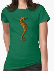 sea horse - orange Womens Fitted T-Shirt