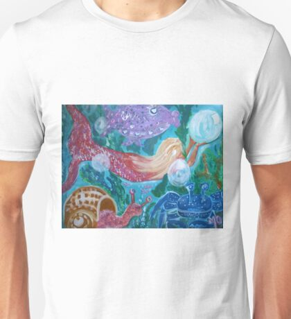 Mermaid and Friends under the sea Unisex T-Shirt