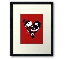 The Clockwork Heart Framed Print